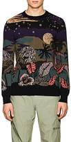 Paul Smith Men's Midnight Intarsia-Knit Crewneck Sweater