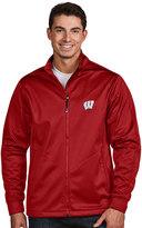 Antigua Men's Wisconsin Badgers Waterproof Golf Jacket