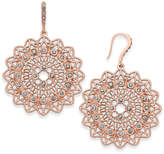 INC International Concepts I.n.c. Rose Gold-Tone Pave Filigree Drop Earrings, Created for Macy's
