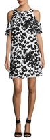 Julia Jordan Printed Cold Shoulder Shift Dress