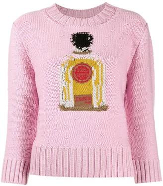 Patou Perfume Bottle intarsia jumper