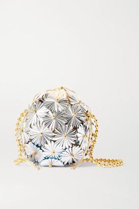 VANINA Inflorescence Embellished Silver-tone And Gold-plated Shoulder Bag - One size