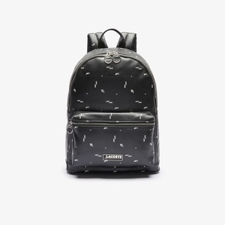 Lacoste Men's LCST Printed Coated Canvas Backpack