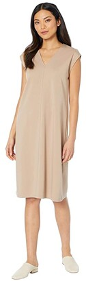 Eileen Fisher V-Neck Dress (Bramble) Women's Dress
