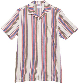 Onia Vacation Striped Short Sleeve Shirt