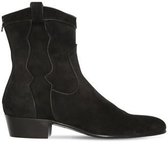 Louis Leeman 35mm Suede Western Boots