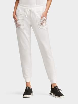 DKNY Jogger With Mesh Pockets