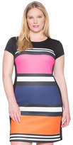 ELOQUII Plus Size Colorblock Sheath Dress