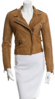 Barbara Bui Fringe-Accented Leather Jacket w/ Tags