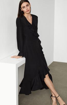 BCBGMAXAZRIA Silk Blouson Dress