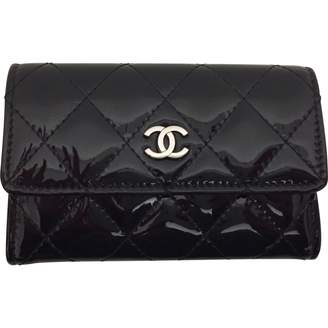 Chanel Black Patent leather Wallets