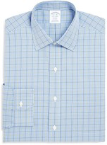 Brooks Brothers Gingham Overcheck Non Iron Classic Fit Dress Shirt