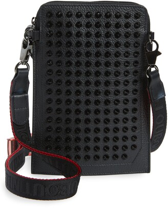 Christian Louboutin Loubilab Spiked Leather Crossbody Bag