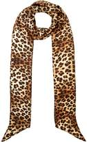 Biba Leopard skinny silk scarf