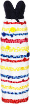 Carolina Herrera floral skirt embroidered gown