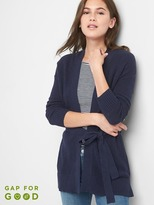 Gap Textured wrap belt cardigan