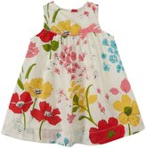 Pink Chicken Marilyn Dress (Baby) - Antique White Modern Floral-3-6 Months