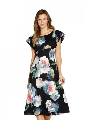 Adrianna Papell Floral Printed Bias Dress