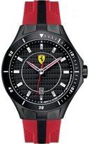 Ferrari Scuderia Race Day Black Dial Red and Black Silicone Mens Watch 830080