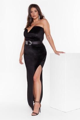 Nasty Gal Womens Total Eclipse of the Sweetheart Plus Velvet Dress - Black