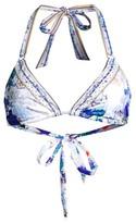 Camilla White Side of The Moon Embellished Ring Bikini Top