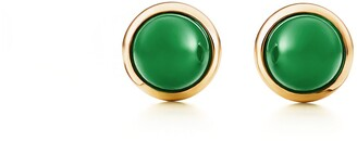 Tiffany & Co. Elsa Peretti Cabochon earrings in 18k gold with green jade