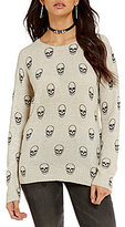 Chelsea & Violet Skull Printed Crew Neck Sweater