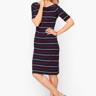 Talbots Stripe Knit Shift Dress