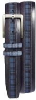 Mezlan 'Diver' Printed Calfskin Leather Belt