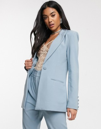 4th + Reckless fitted suit blazer in blue