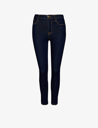 Frame Ali cigarette high-rise stretch-denim jeans
