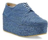 Robert Clergerie Pinto Raffia Platform Oxfords
