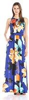 Vince Camuto Women's Keyhole Floral Maxi Dress