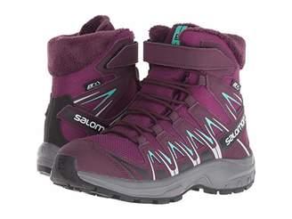 Salomon XA Pro 3D Winter TS CSWP (Little Kid/Big Kid) (Dark Purple/Potent Purple/Atlantis) Girls Shoes