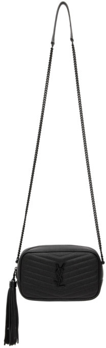 Saint Laurent Black Monogramme Mini Lou Camera Bag