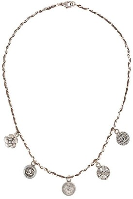 Chanel Pre-Owned 1996 CC logos medallion motif pendant necklace