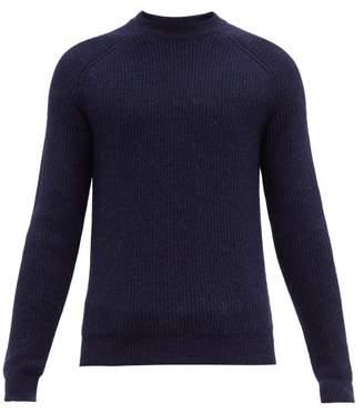 Prada Ribbed Alpaca Sweater - Mens - Navy