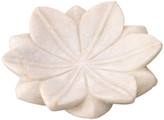 Jamie Young Small Lotus Plates, White Marble, Set of 3