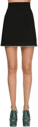 Miu Miu Grain De Poudre Mini Skirt W/crystals