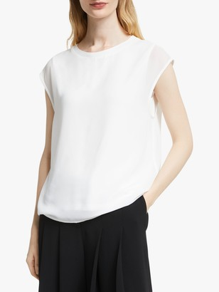 John Lewis & Partners Sleeveless Double Layer Top