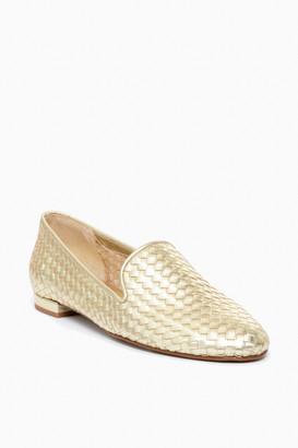 Jon Josef Shoes Gold Woven Trenzado Loafers