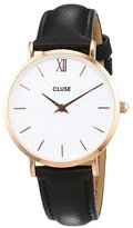 Cluse Women's Minuit CL30003 /White Leather Quartz Watch