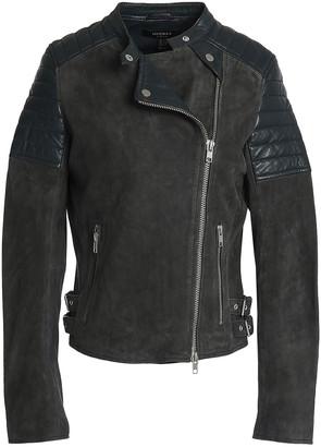 Muu Baa Muubaa Leather-paneled Suede Biker Jacket