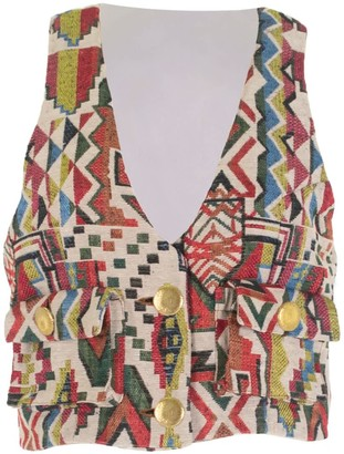 Relax Baby Be Cool Multicolour Cropped Vest With Pockets