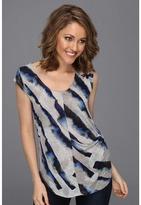 DKNY Ocean Stripe Print Top Women's Clothin