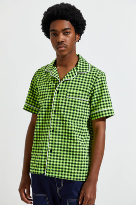 David Catalán David Catalan Vichy Pajama Short Sleeve Button-Down Shirt