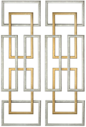 Uttermost Set Of 2 Aerin Geometric Wall Art