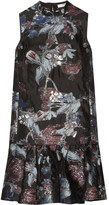 Erdem Nena Fil Coupé Organza Dress - Black