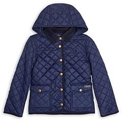 Ralph Lauren Polo Girls' Water Resistant Hooded Barn Jacket - Big Kid