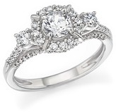 Bloomingdale's Certified Diamond 3-Stone Engagement Ring in 14K White Gold, 1.0 ct. t.w.